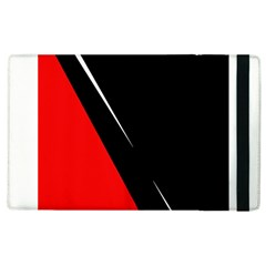 Black and red design Apple iPad 3/4 Flip Case