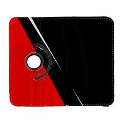 Black and red design Samsung Galaxy S  III Flip 360 Case