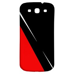 Black and red design Samsung Galaxy S3 S III Classic Hardshell Back Case