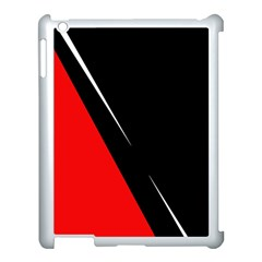 Black and red design Apple iPad 3/4 Case (White)