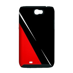 Black and red design Samsung Galaxy Note 2 Hardshell Case (PC+Silicone)