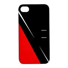 Black and red design Apple iPhone 4/4S Hardshell Case with Stand