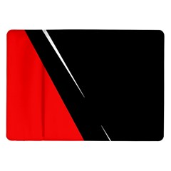 Black and red design Samsung Galaxy Tab 10.1  P7500 Flip Case