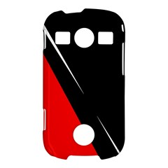 Black and red design Samsung Galaxy S7710 Xcover 2 Hardshell Case
