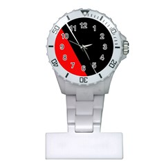 Black and red design Plastic Nurses Watch