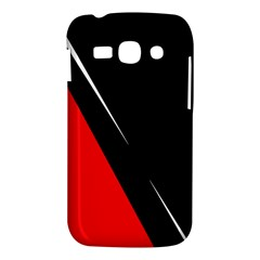 Black and red design Samsung Galaxy Ace 3 S7272 Hardshell Case