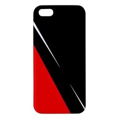 Black and red design iPhone 5S/ SE Premium Hardshell Case
