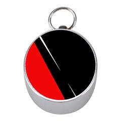 Black and red design Mini Silver Compasses
