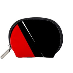 Black and red design Accessory Pouches (Small)