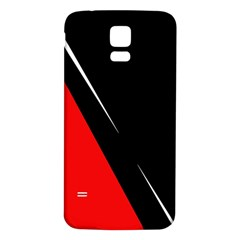 Black and red design Samsung Galaxy S5 Back Case (White)