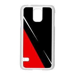 Black and red design Samsung Galaxy S5 Case (White)