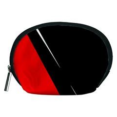 Black and red design Accessory Pouches (Medium)