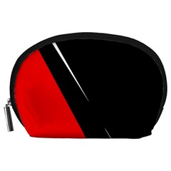 Black and red design Accessory Pouches (Large)