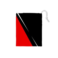 Black and red design Drawstring Pouches (Small)