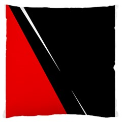 Black And Red Design Large Flano Cushion Case (two Sides)