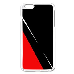 Black and red design Apple iPhone 6 Plus/6S Plus Enamel White Case
