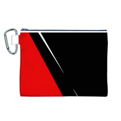 Black and red design Canvas Cosmetic Bag (L)