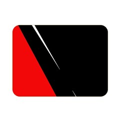 Black and red design Double Sided Flano Blanket (Mini)