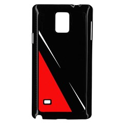 Black and red design Samsung Galaxy Note 4 Case (Black)
