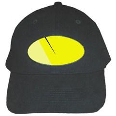 Yellow design Black Cap