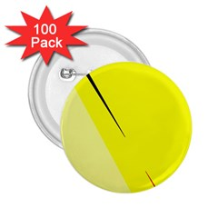 Yellow design 2.25  Buttons (100 pack)