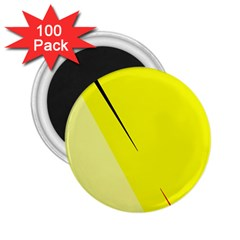 Yellow design 2.25  Magnets (100 pack)
