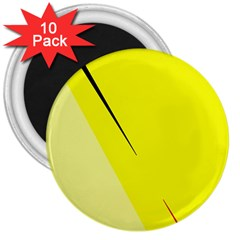 Yellow design 3  Magnets (10 pack)