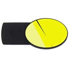 Yellow design USB Flash Drive Oval (1 GB)
