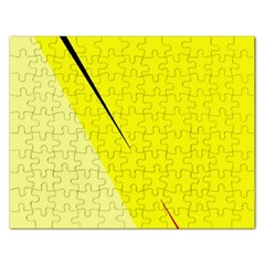 Yellow design Rectangular Jigsaw Puzzl