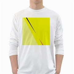 Yellow design White Long Sleeve T-Shirts