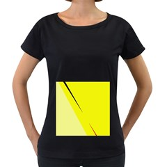 Yellow design Women s Loose-Fit T-Shirt (Black)