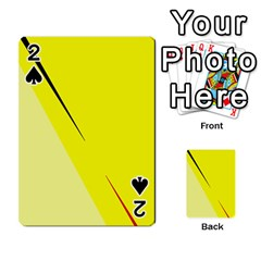 Yellow design Playing Cards 54 Designs