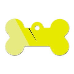 Yellow design Dog Tag Bone (Two Sides)