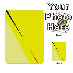 Yellow Design Multi Purpose Cards (rectangle)