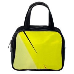 Yellow design Classic Handbags (One Side)