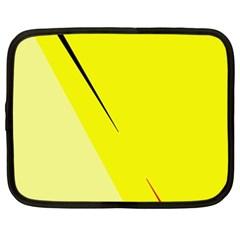 Yellow design Netbook Case (XXL)