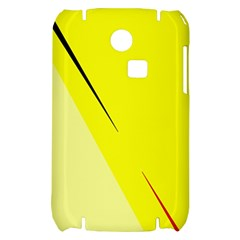 Yellow design Samsung S3350 Hardshell Case
