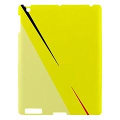 Yellow design Apple iPad 3/4 Hardshell Case