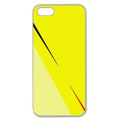 Yellow design Apple Seamless iPhone 5 Case (Clear)