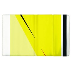 Yellow design Apple iPad 2 Flip Case