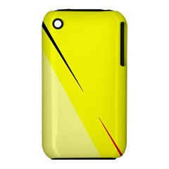 Yellow design Apple iPhone 3G/3GS Hardshell Case (PC+Silicone)
