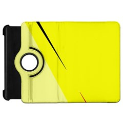 Yellow design Kindle Fire HD Flip 360 Case