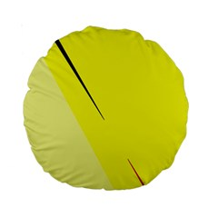 Yellow design Standard 15  Premium Round Cushions