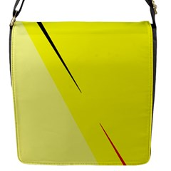 Yellow design Flap Messenger Bag (S)
