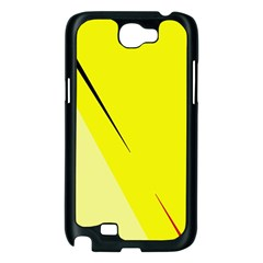 Yellow design Samsung Galaxy Note 2 Case (Black)