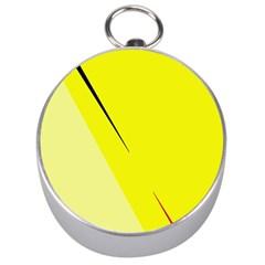 Yellow design Silver Compasses