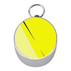 Yellow design Mini Silver Compasses