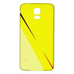Yellow design Samsung Galaxy S5 Back Case (White)
