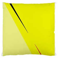 Yellow Design Large Flano Cushion Case (two Sides)
