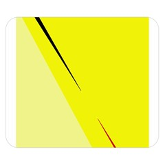 Yellow design Double Sided Flano Blanket (Small)